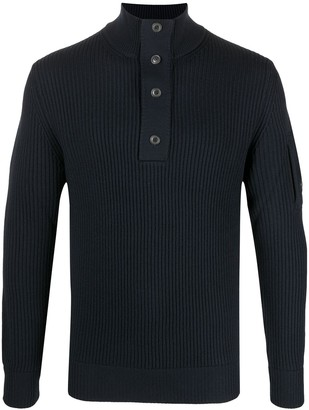 C.P. Company High Neck Ribbed Sweater