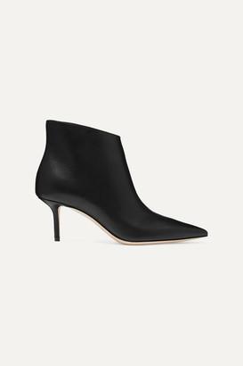 Jimmy Choo Marinda 65 Leather Ankle Boots - Black