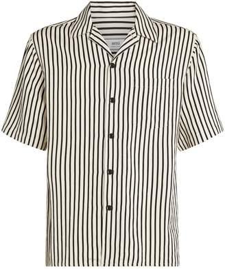 Ami Paris Stripe Short-Sleeved Shirt