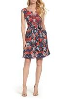 Adrianna Papell Women's Linenette Fit & Flare Dress