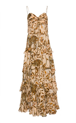 Johanna Ortiz All I've Ever Known Printed Tiered Silk Maxi Dress