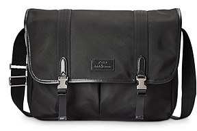 Polo Ralph Lauren Leather Trim Messenger Bag