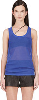 Richard Nicoll Blue Mesh Tank Top