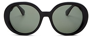 Oliver Peoples Women's Leidy Polarized Round Sunglasses, 56mm
