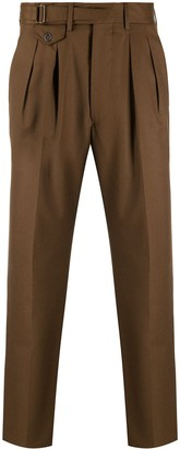 Lardini Fine Knit Pleat Detail Trousers