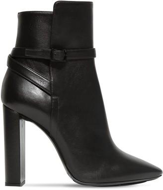 Saint Laurent 105mm Soixante Seize Leather Ankle Boots