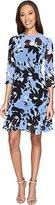 Donna Morgan Women's 3/4 Sleeve Aline Poly Chiffon Dress W/ Circle Flouce
