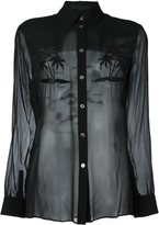 Alexander Wang embroidered palm tree shirt