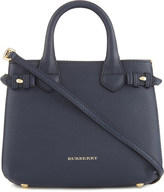 Burberry Banner check trim baby leather tote