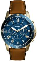 Fossil Chronograph Watch Hellbraun