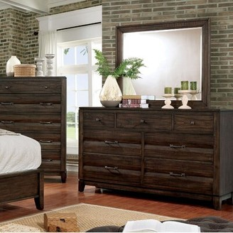 Gracie Oaks Michaelson 7 Drawer Chest with Mirror Gracie Oaks