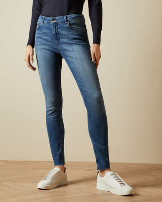 Ted Baker AACIEE Mid wash raw hem skinny jeans