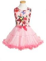Girl's Popatu Butterfly Print Tutu Dress