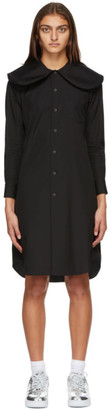 Comme des Garcons Black Peter Pan Collar Mid-Length Dress