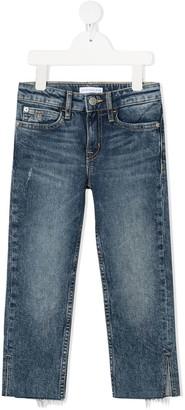 Calvin Klein Kids Split-Hem Straight Leg Jeans