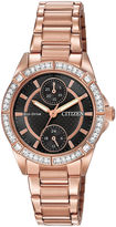 JCPenney DRIVE FROM CITIZEN ECO-DRIVE Citizen Eco-Drive Womens Crystal-Accent Bracelet Watch FD3003-58E