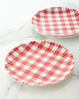 Horchow Four Gingham Melamine Plates
