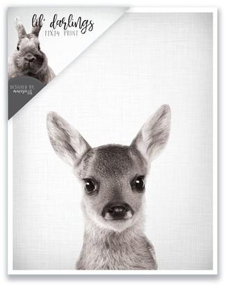 mavisBLUE Baby Deer Print