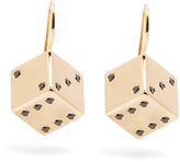 Alison Lou Diamond & yellow-gold Dice earrings
