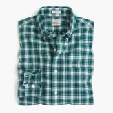 J.Crew Slim Secret Wash shirt in green and white plaid
