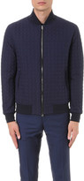 Etro Hexagon-quilted woven bomber jacket