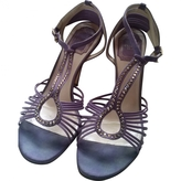Christian Dior Purple Leather Sandals
