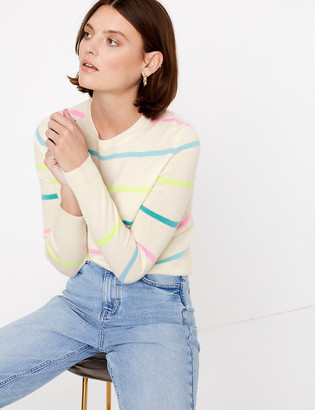 Marks and Spencer Pure Cashmere Striped Long Sleeve Jumper