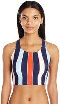 Tommy Hilfiger Women's Speedy Stripe High Neck Bikini Top with Racer Back