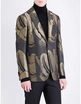 Etro Metallic Leaf Regular-fit Jacquard Jacket