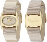 Salvatore Ferragamo Women's FIE030015 VARINA Analog Display Quartz Beige Watch