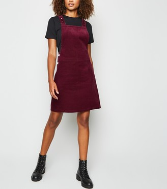 New Look Tall Cord Pinafore Dress