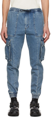 Juun.J Blue Denim Cargo Pants