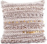 Karma Living Romantic Decorative Pillow - 18 x 18 - Brown