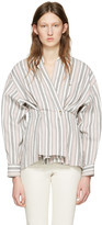Isabel Marant Ecru Striped Silvia Blouse