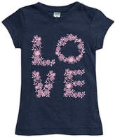 Urban Smalls Navy Floral 'Love' Fitted Tee - Toddler & Girls