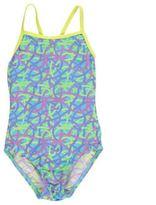 Slazenger Kids Thin Strap Swimsuit Junior Girls Lightweight Elastic Swimwear