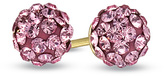 Zales Child's Rose Crystal Ball Earrings in 14K Gold