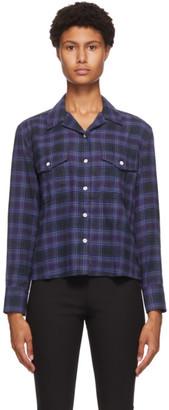 Rag & Bone Blue Plaid May Shirt