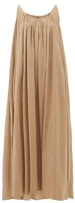 Loup Charmant Scoop-back Organic-cotton Maxi Dress - Womens - Brown