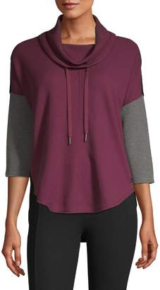 Calvin Klein High-Low Contrast Pullover