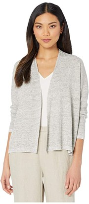 Eileen Fisher Slouchy Cardigan (Moon) Women's Clothing