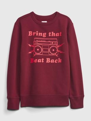 Gap Kids Recycled Graphic Crewneck Sweatshirt