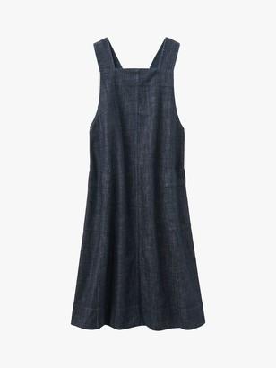 Toast Pinafore A-Line Dress, Indigo