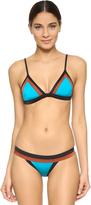 Milly Solid Swim Amalfi Colorblock Bikini Top