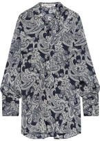 Acne Studios Bai Printed Chiffon Shirt - Navy