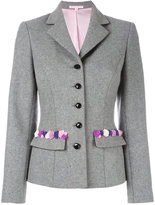 Olympia Le-Tan Flannel embroidered Madeleine jacket - women - Wool - 36