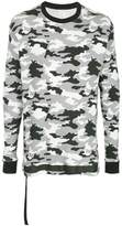 Unravel Project military printed elongated sweatshirt