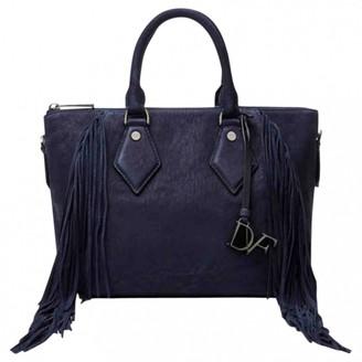 Diane von Furstenberg Navy Suede Handbags