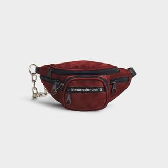 Alexander Wang Attica Soft Mini Fanny Crossbody Bag In Burgundy Suede