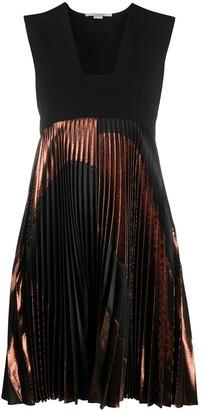 Stella McCartney Metallic-Panel Pleated Dress